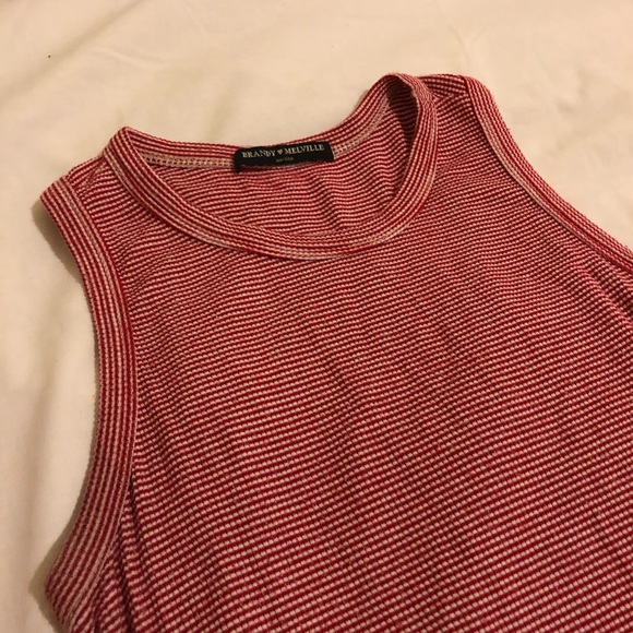 Red and white striped crop top-VERY LIGHTLY WORN